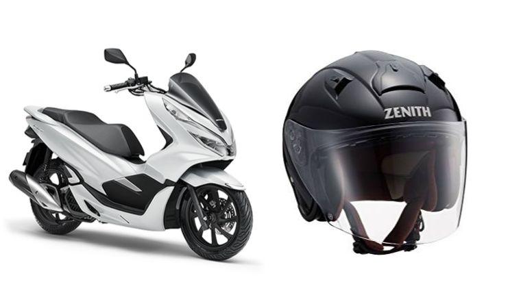 PCXとヘルメット