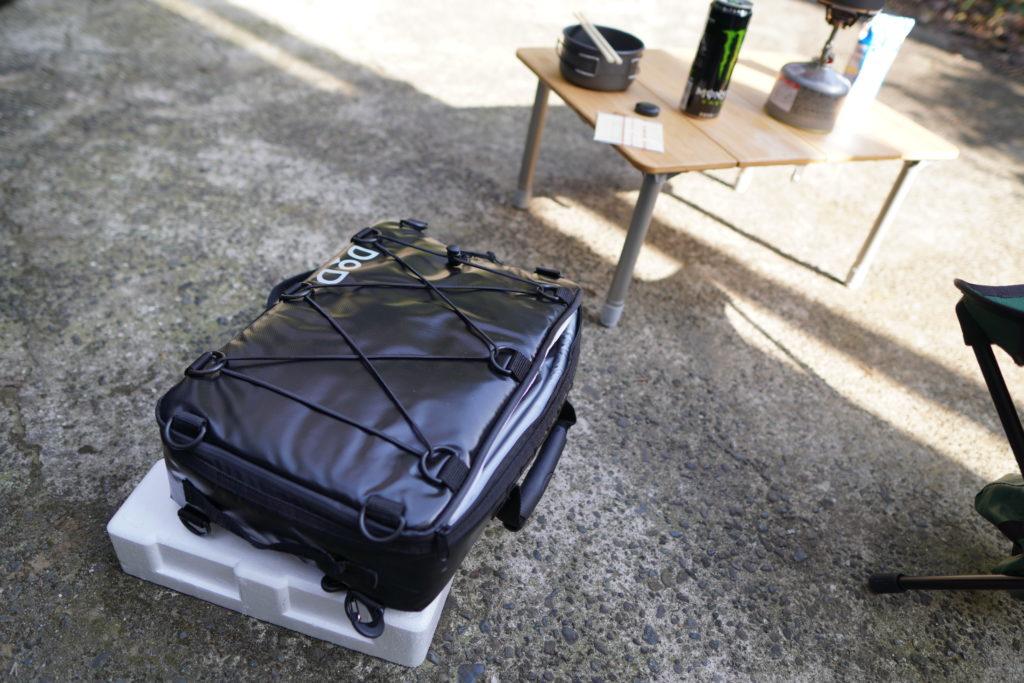 キャンプで使った時のDODクーラーバッグ