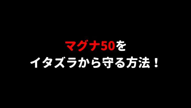 マグナ50盗難対策